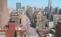 People&#039;s march up 7th ave during the Republican National Convention - New York 2004