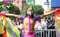 Man in the Gay Pride parade - New York 2009